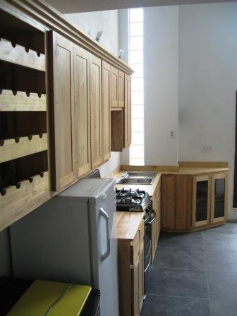 kitchen Cabinets with Wine-rack
