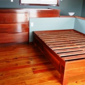 Custom built-to-fit beds and dresser