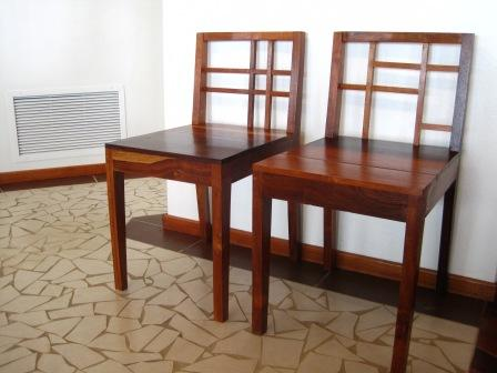 Hardwood Chairs with Distinct Design
