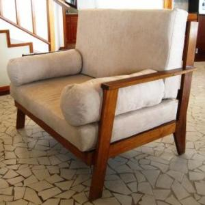 Love Seats Hardwood Frame with Micro Suede Cushions