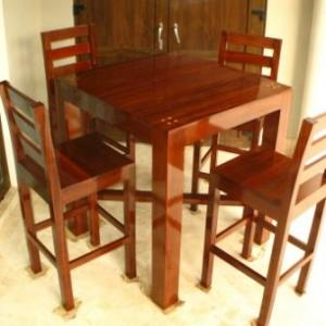Rosewood Tall Table & Chairs for  Patio
