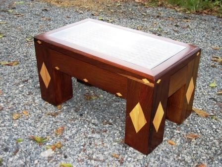 Coffee Table Hardwood with Glass